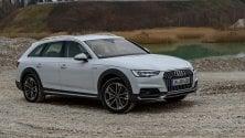 Audi a 4 Allroad, show sull'Etna