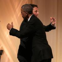 Renzi a Washington, la cena di Stato è una festa. Scambio battute Barack-Benigni