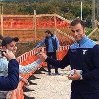 Lazio, la squadra in visita ad Amatrice: