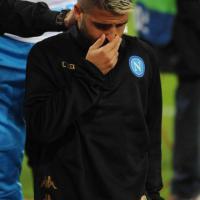 Napoli-Besiktas, Insigne in lacrime dopo l'errore dal dischetto