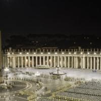 Proiettori a led e basso consumo energetico, piazza San Pietro si 'veste' di nuova luce