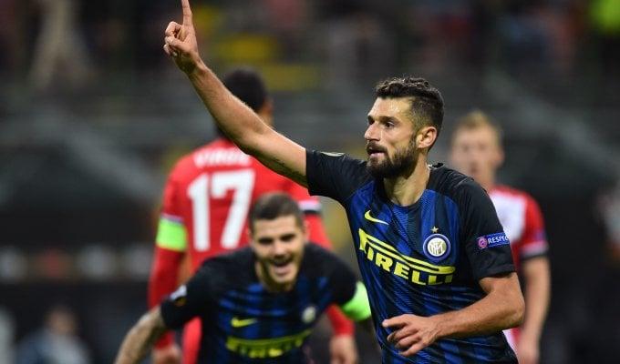 Candreva gol e poi Handanovic L'Inter riparte
