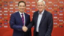 Cina, ora è ufficiale  Lippi è il nuovo ct   Stasera c'è Milan-Juve   Alle 18 Samp-Genoa