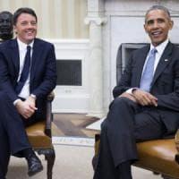Renzi a confronto con Obama, l'Europa e il referendum