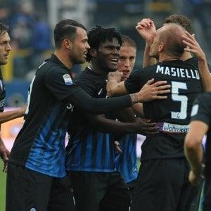 Le pagelle di Atalanta-Inter: disastro Santon, Masiello difende e segna