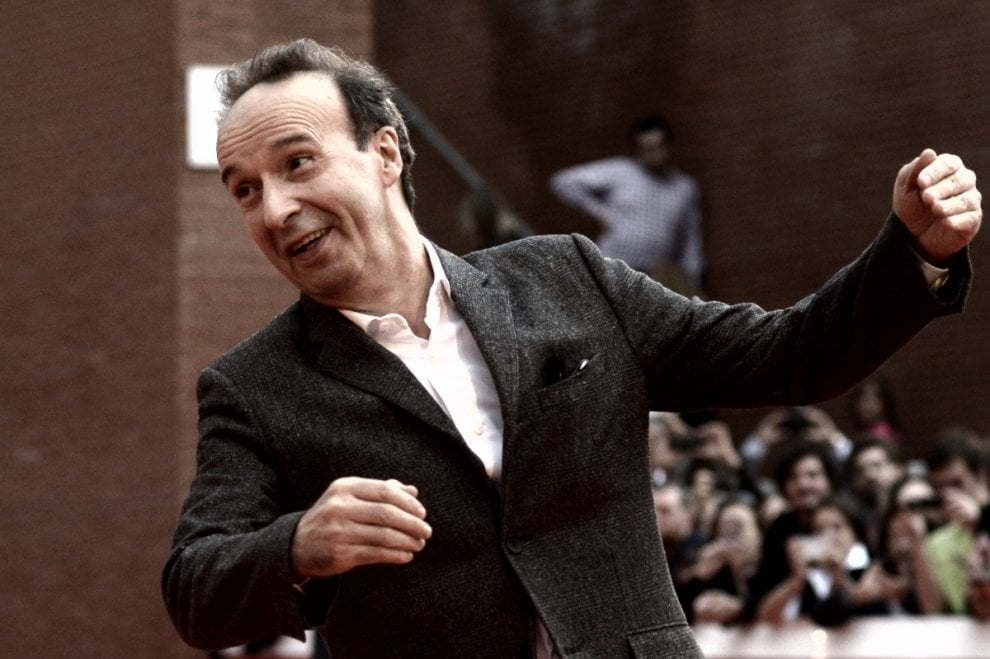 Roma, Festa del cinema: l'allegria di Benigni sul red carpet