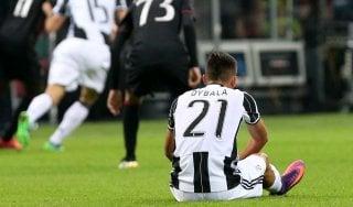 Juventus, Dybala fuori due settimane: salterà Napoli e Lione