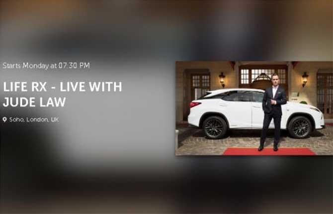 Lexus Europe e Jude Law di nuovo insieme