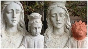 Restituita la testa del bambinello Finisce lo scempio del restauro
