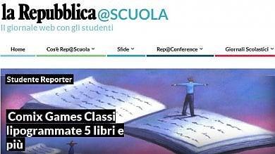 Riapre il mondo dei siti di   Rep@Scuola   Già migliaia di articoli dagli studenti