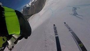 Sugli sci con Lindsey Vonn Discesa in soggettiva da brividi