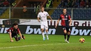 Milan, altro che sorpasso il Genoa lo travolge 3-0