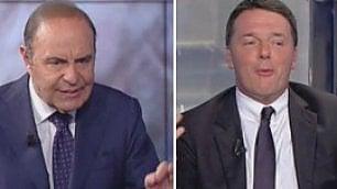 """""""Ai grandi amori non si comanda"""" Renzi a Vespa ironia su Berlusconi"""