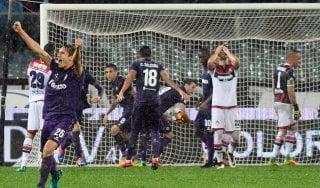 Fiorentina-Crotone 1-1: Falcinelli illude i calabresi, Astori salva i viola