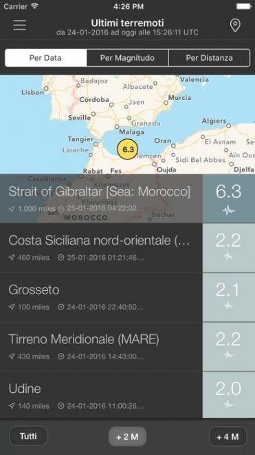 Terremoti, le migliori app per il monitoraggio