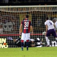 Bologna-Fiorentina 0-1, i rossoblù cadono in dieci: decide Kalinic su rigore