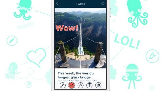 Squid: sticker e appunti, l'app sceglie le notizie in base ai tuoi gusti