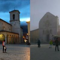 Terremoto Centro Italia, crolla la basilica di Norcia: le immagini prima e dopo