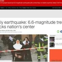 Terremoto Centro Italia, la notizia sui siti stranieri
