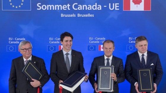 Ceta, arriva la firma sul trattato commerciale tra Ue e Canada