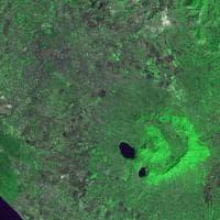Il vulcano di Roma visto da satellite