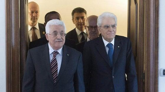 """Abu Mazen: """"Il governo italiano riconosca la Palestina. L'Europa può aiutare il percorso di pace"""""""