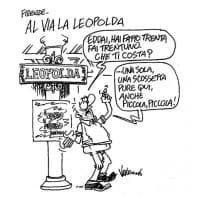 Polemica per la vignetta di Vauro sulla Leopolda: ''Fai una scossetta pure qui''