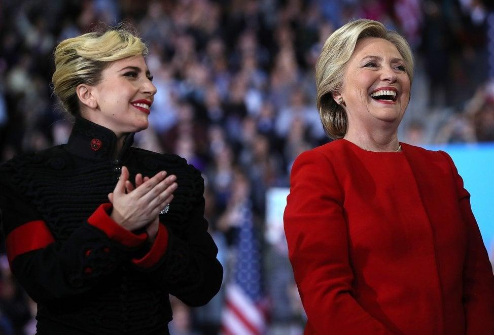 Elezioni Usa, sul palco con Hillary: The Boss, Lady Gaga e Bon Jovi