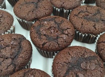 Il muffin è al cioccolato, ma gluten free