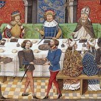 A cena con Carlo Magno: