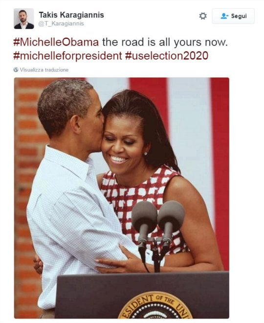 Sognando Michelle alla Casa Bianca: su Twitter la campagna per le elezioni 2020