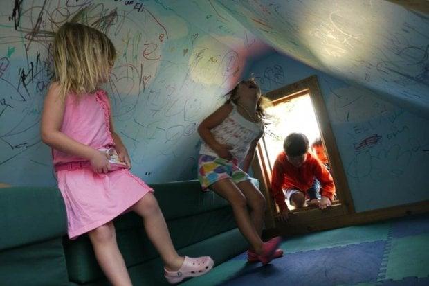 Bambini, una casa palestra per farli crescere in libertà
