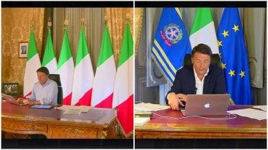 """Prodi: """"Un colpo al cuore vedere Renzi che parla senza la bandiera della Ue"""""""