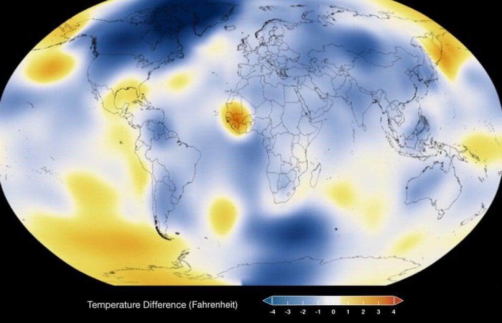 Clima: 1884-2014, il riscaldamento globale secondo la Nasa
