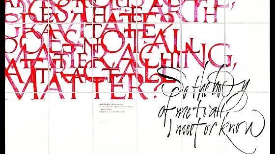 Calligrafia, ovvero com'è moderno scrivere a mano
