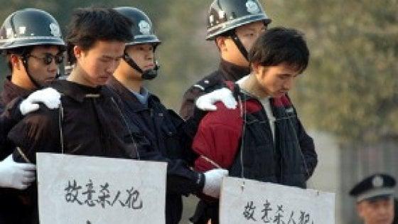 Cina, eseguita la condanna a morte del giovane che aveva ucciso per amore