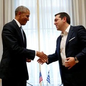 """Obama in Grecia: """"Austerità non porta prosperità"""". Tsipras blinda Atene per paura di cortei"""