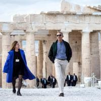Obama in Grecia, la visita all'acropoli di Atene
