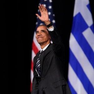 """Obama ad Atene: """"I nostri valori sono sempre solidi, ma le ingiustizie vanno corrette"""""""