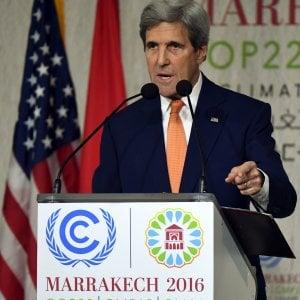 """Clima, Kerry rassicura il mondo: """"Gli americani vogliono mantenere gli impegni"""""""