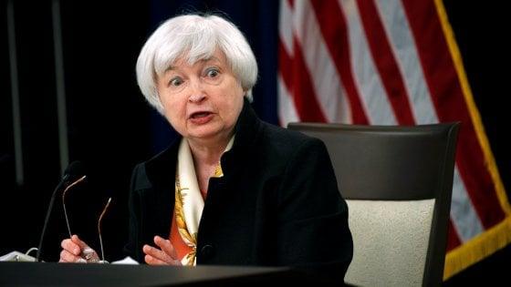 "Fed, Yellen: ""Alzeremo presto i tassi"""