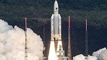 Galileo, lancio record: poker di satelliti con il razzo Ariane 5