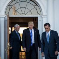 Stati Uniti, Trump incontra il 'nemico' Romney: