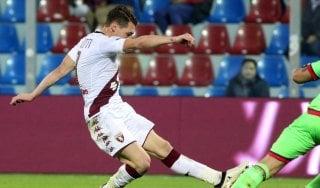 Crotone-Torino 0-2, doppio Belotti lancia i granata