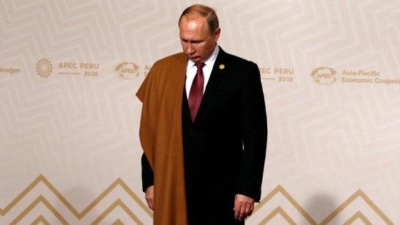 """Putin: """"Io e Trump vogliamo normalizzare i rapporti Usa-Russia"""""""