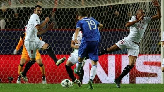 Le pagelle di Siviglia-Juventus: Vazquez l'ingenuo, Bonucci il dominatore
