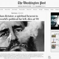 Morto Fidel Castro, la notizia sui siti di tutto il mondo