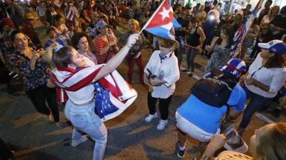 """A Miami in festa: """"Ora più forza contro il regime"""""""