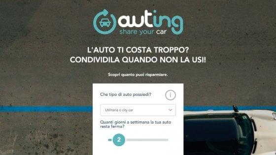 Auting, in Italia il primo servizio per affittare la propria auto