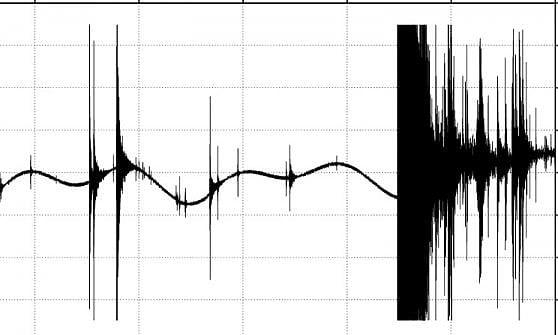 Il picco registrato dal gravimetro di Kamioka l'11 marzo 2011